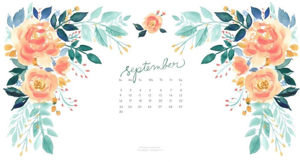Floral September 2018 Calendar Wallpapers Calendar Wallpaper Desktop Wallpaper Calendar September Wallpaper