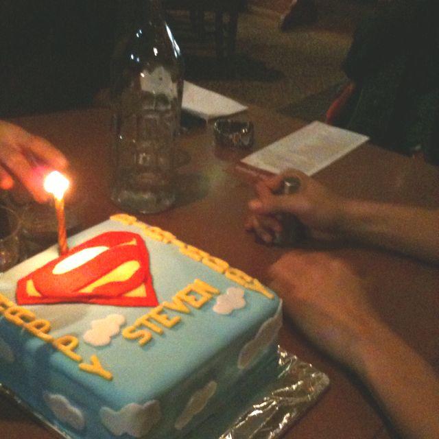 First fondant cake -superman