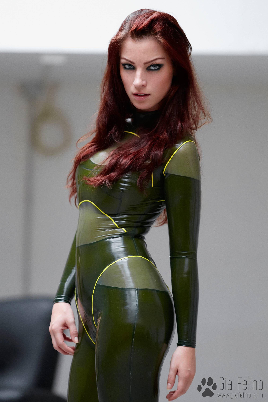 cat suit Green