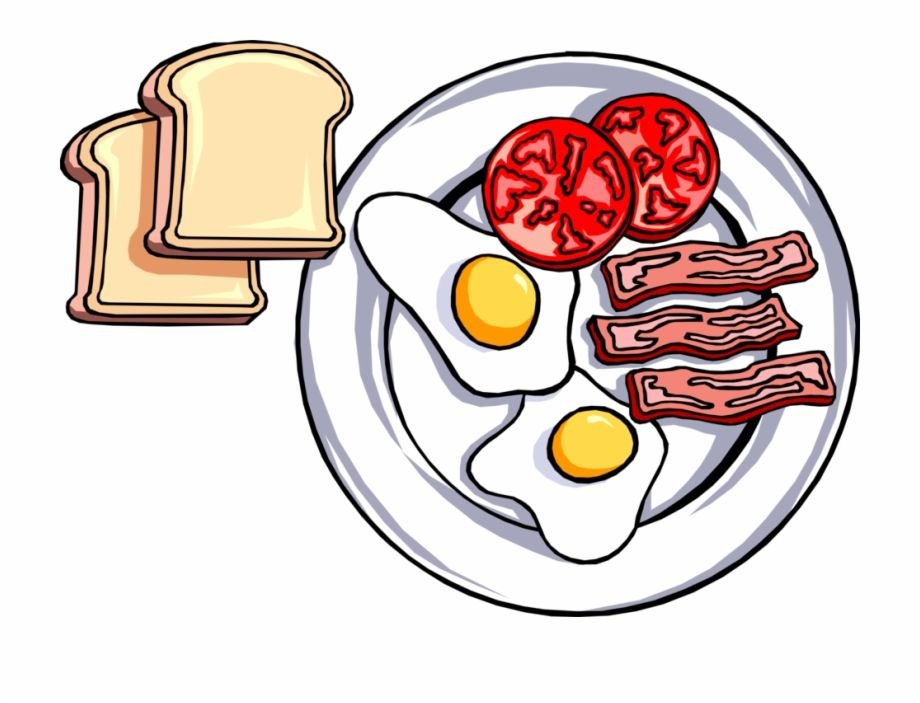 Vector Illustration Of Hearty Breakfast Of Toast Fried Plate Of Food Clipart Is A Free Transparent Png Imag Food Clipart Hearty Breakfast Breakfast Clipart