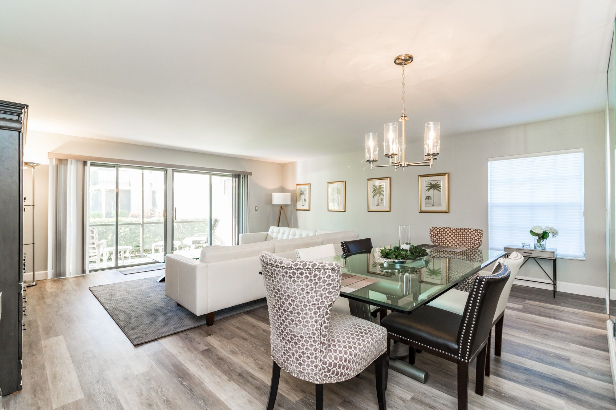 The dining room is part of the living room and has a wonderful views. The spacious area can ...