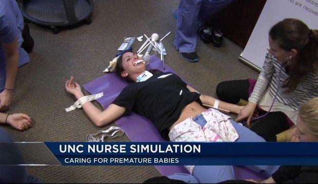 UNC nurses take part in premature baby simulation | Neonatal Nurse ...