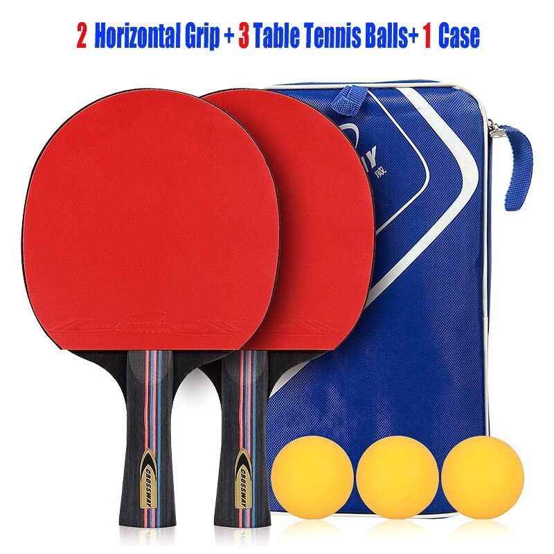 Crossway Table Tennis Racket Professional Horizontal Double Grip Pimples In Rubber Ping Pong Table Tenn Table Tennis Table Tennis Racket Ping Pong Table Tennis