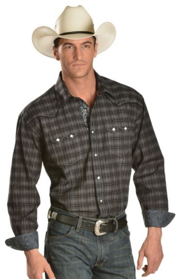 a974624633 Panhandle Slim Rough Stock Bari Vintage Plaid Snap Western Shirt available  at  Sheplers