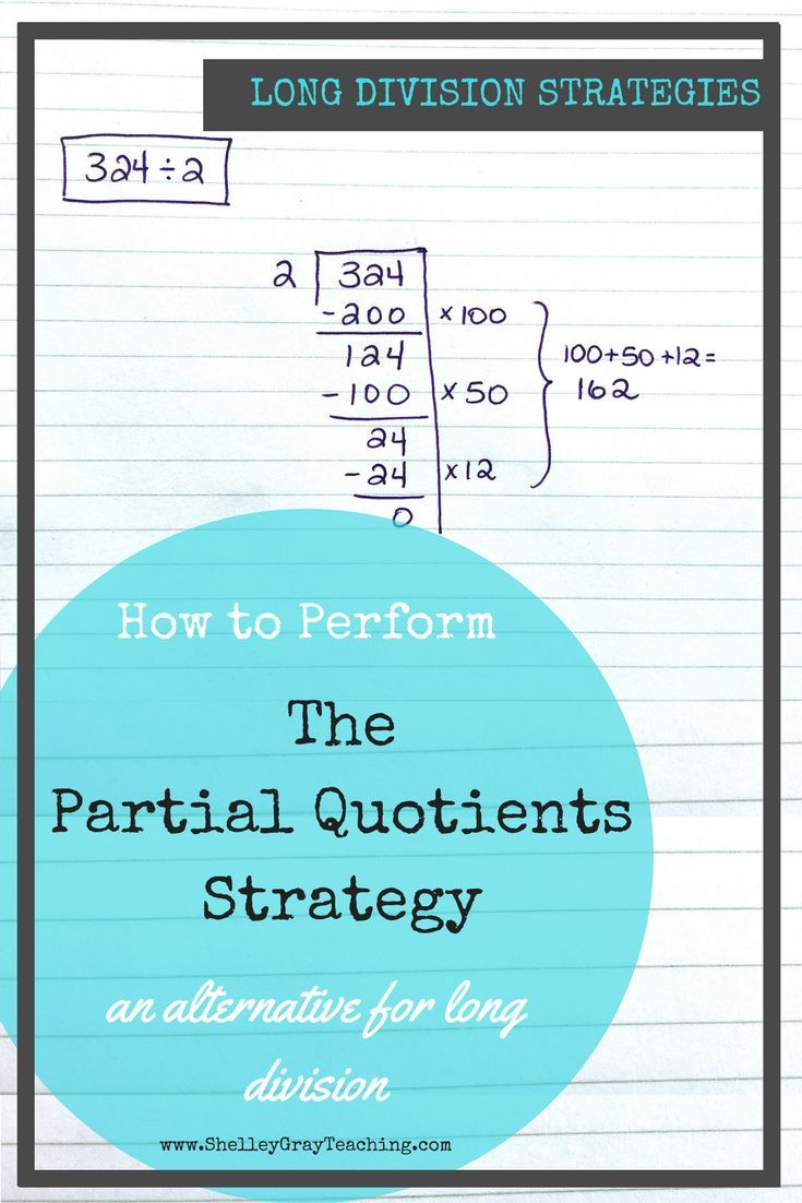 Partial Quotients: an alternative for traditional long division ...