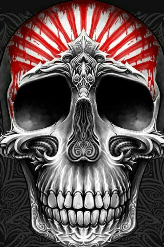 Pin by rick o on Skulls Skull, Skull art, Badass skulls