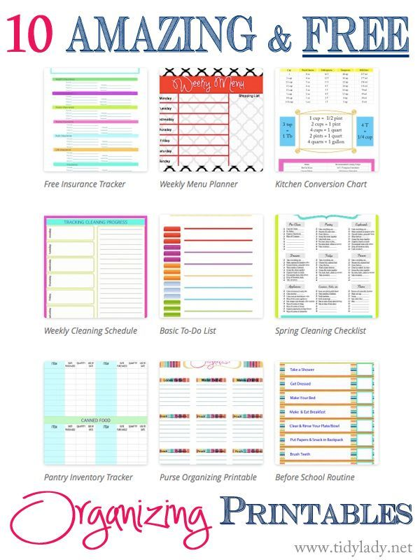 Free Organizing Printables To Organizing Your Life