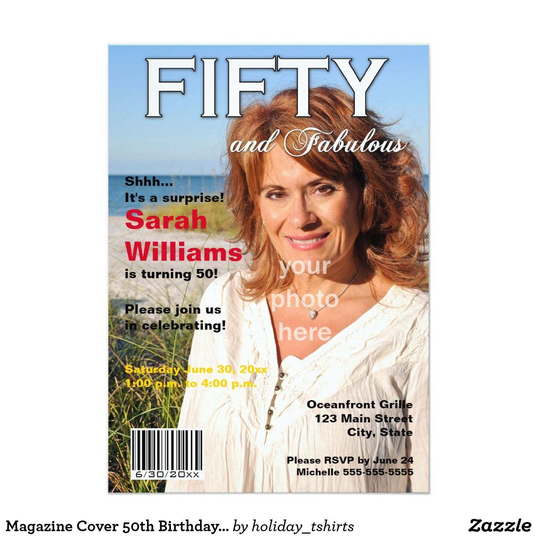 Magazine Cover 50th Birthday Party Invitation | 50th birthday party ...