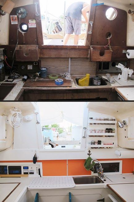 Best 25 sailboat restoration ideas on pinterest sailboat interior sailing boat and sailing for How to restore a boat interior