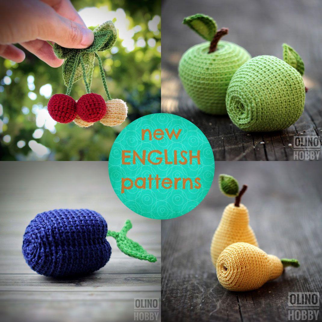 fruits crochet patterns, crochet fruits, crochet pear, crochet apple ...