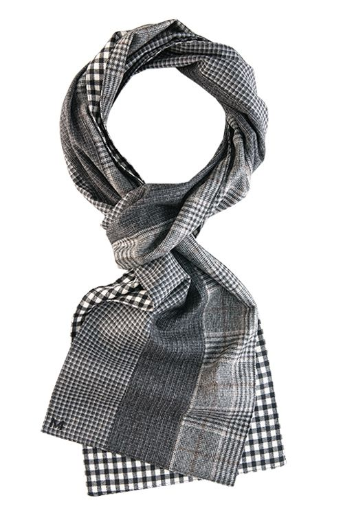 Margo Petitti » Patchwork  men's scarves made from suiting