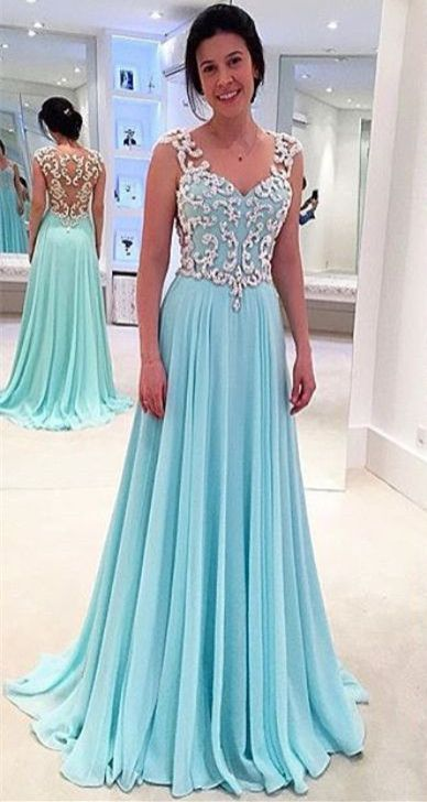 Wedding Dresses 2017 Near Me : Modest tiffany blue prom dresses a line backless