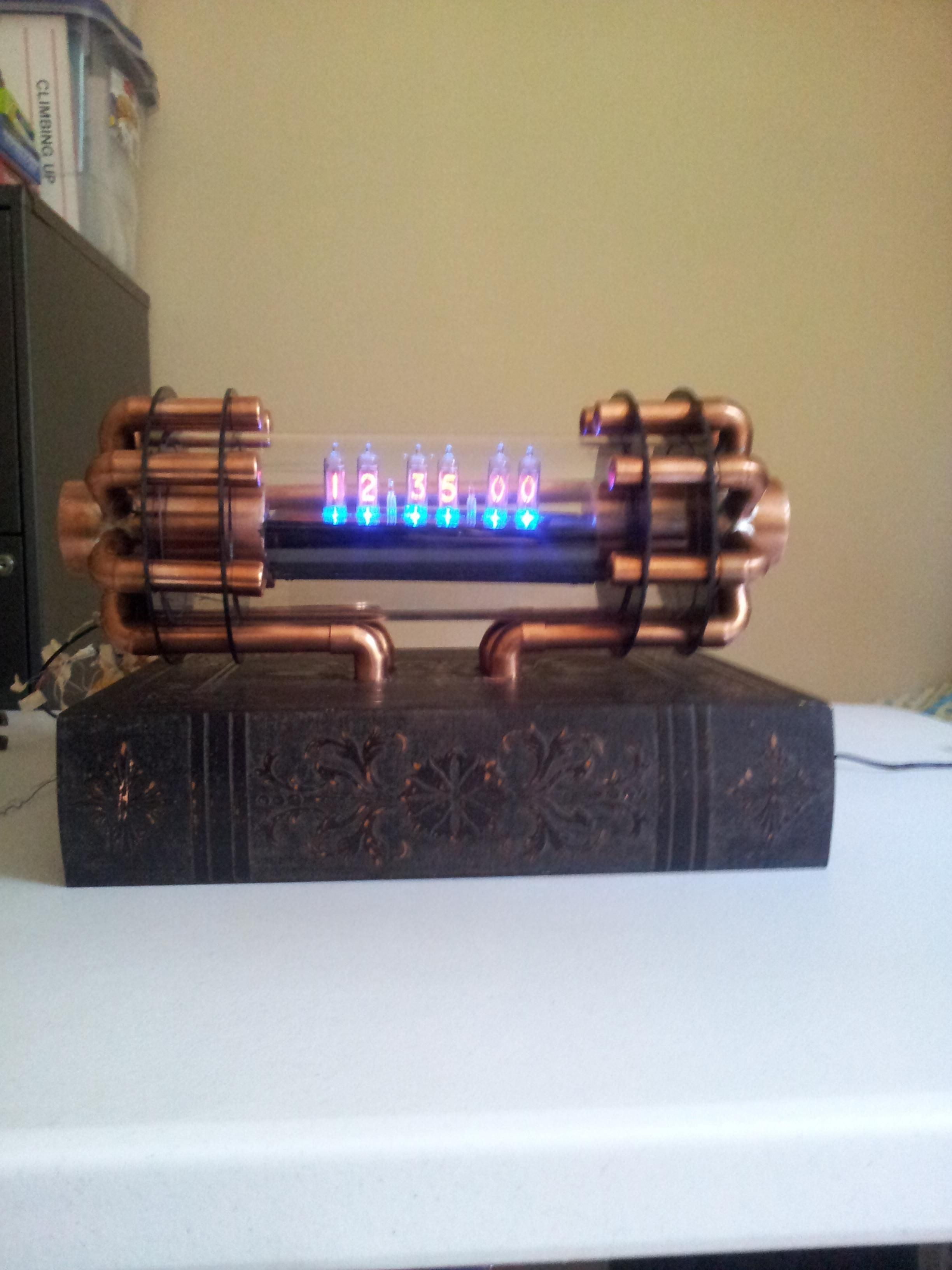 Nixie clock with copper tubing    The 20s and Steampunk in