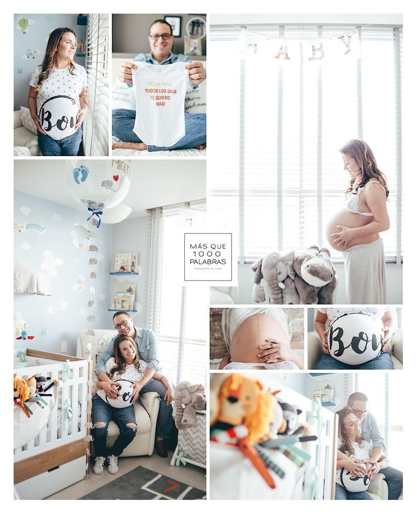 Algunas ideas para una sesión de fotos de embarazo en el cuarto del ...