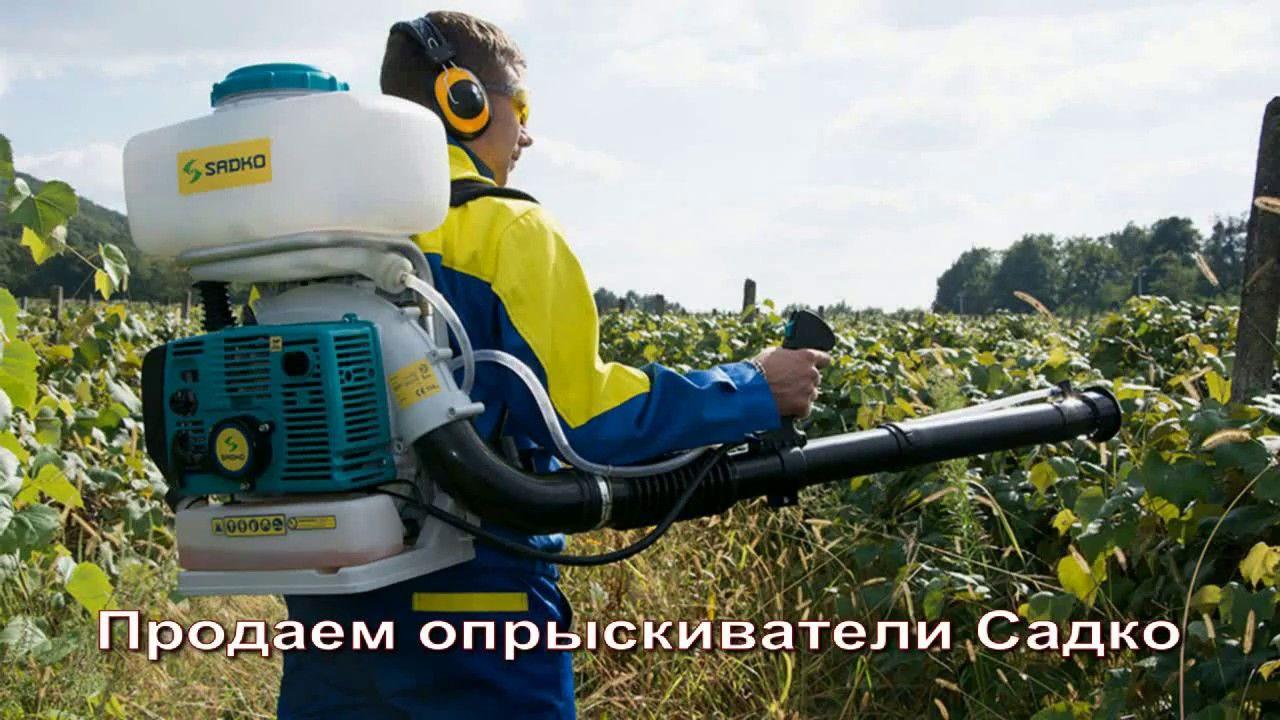 Опрыскиватели Садко, опрыскивание деревьев и черенкование роз в картошку!