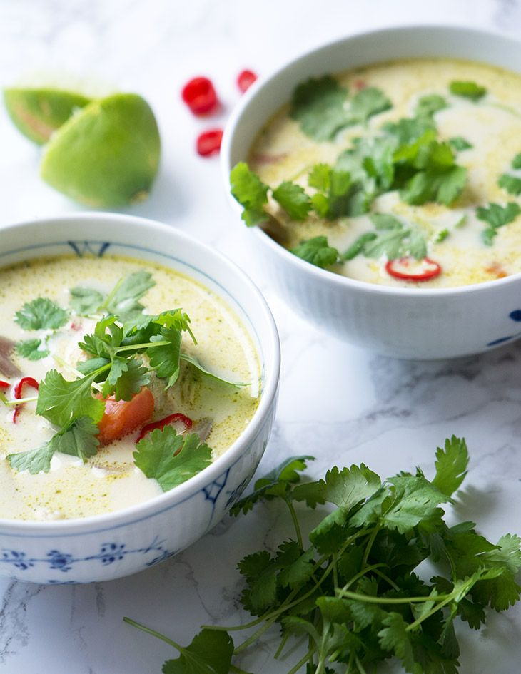 opskrift suppe kylling karry kokosmælk