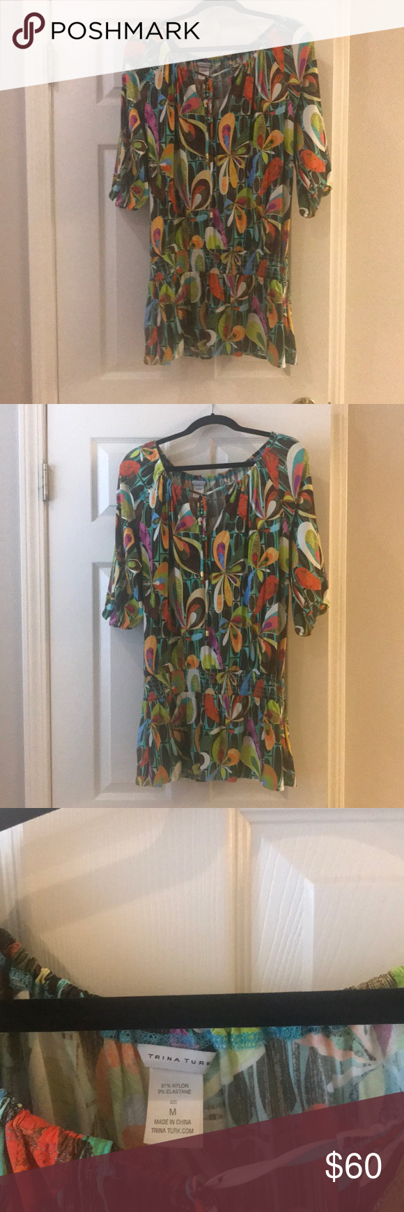 63c6e8b6ee Trina Turk coverup Fun multicolored swimsuit coverup dress. Lots of colors  to go with everything! Very comfortable! Trina Turk Swim Coverups