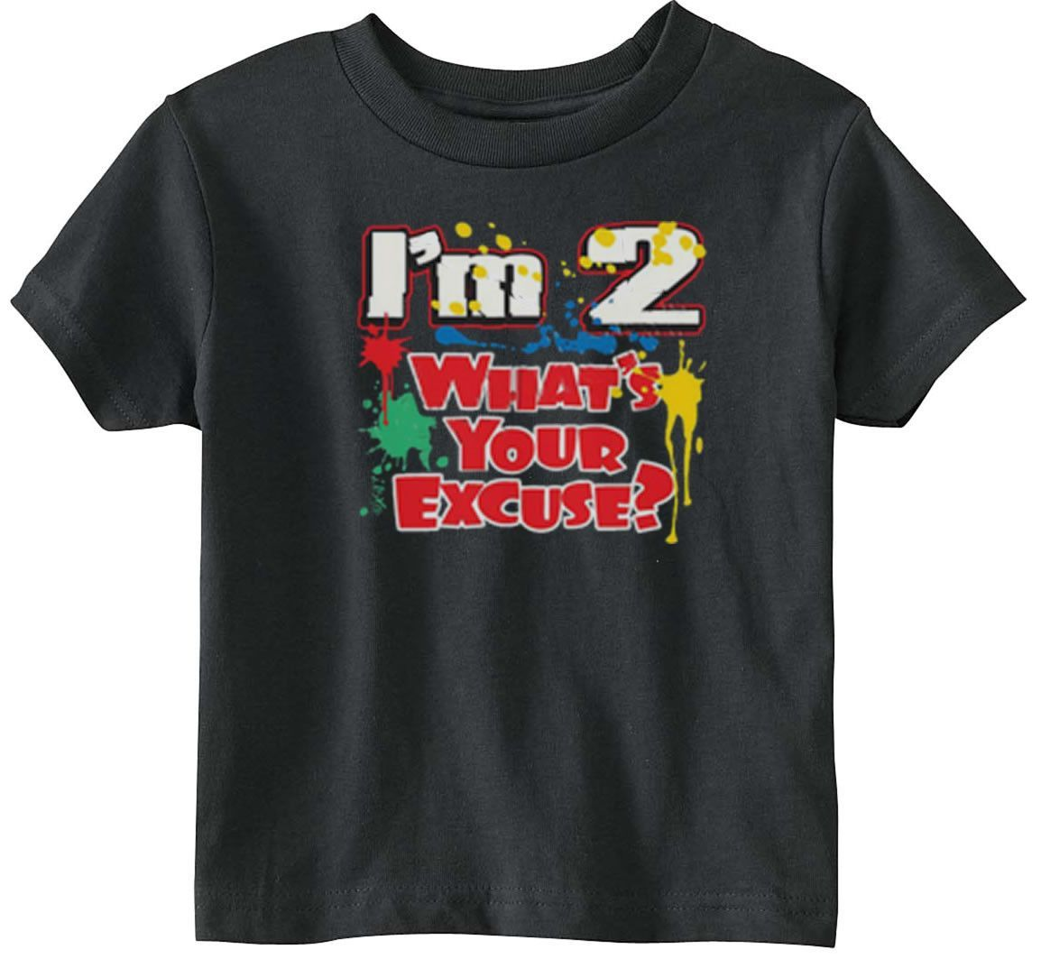 Lil Shirts Little Boys I'm 2What's Your Excuse Toddler Tee