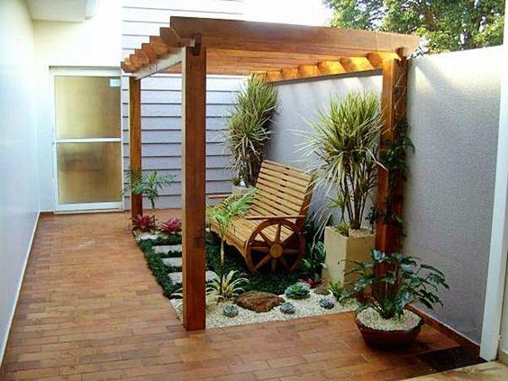 Pergolado 50 modelos inspiradores p rgolas terrazas y - Pergolas para jardines pequenos ...