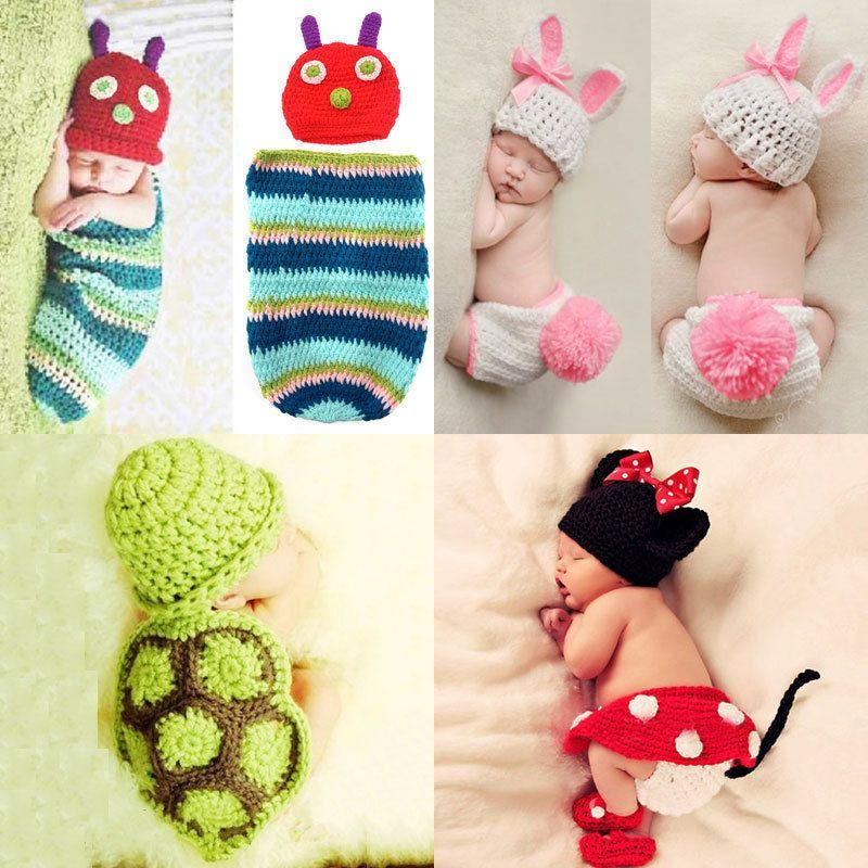Details zu Neugeborenes Baby Mädchen Junge Strick Kleidung Foto ...