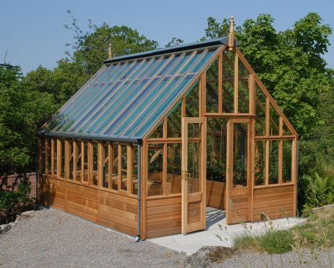 Rhs greenhouses collection gabriel ash outside space for 7194 garden pond