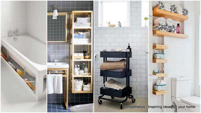 20 Smart Bad Storage Ideen, die Sie beeindrucken werden   Badezimmer dekor, Ikea bad lagerung ...