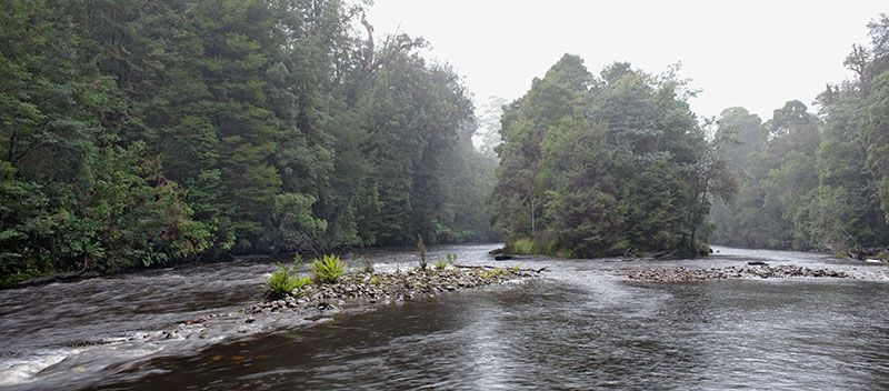 image of Huskisson River in rain