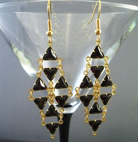 Diva geométrica pendientes de cristal Swarovski por venusinchains
