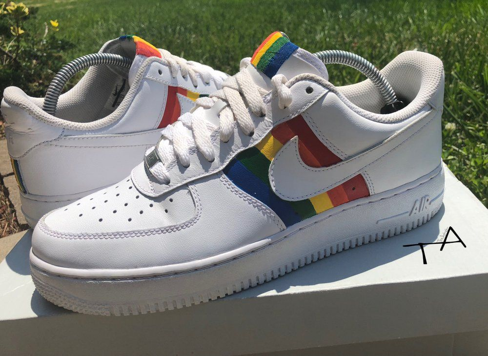 0a2a783c4c3cb Image of Nike AF1 - Pride Edition Rainbow Nikes, Custom Air Force 1, Cute