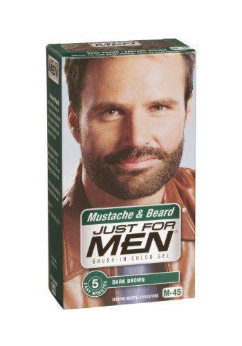 Just for Men Brush-In Color Gel for Mustache & Beard, Dark ...