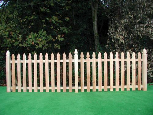 French Gothic 42 X 8 Cedar Spaced Picket Panel At Menards Garden Inspiration Outside Living Front Yard Fence