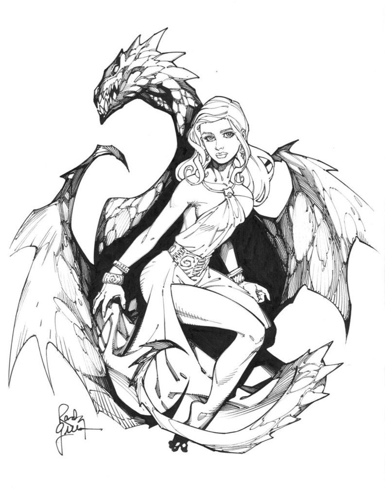 daenerys sketch inked by randygreen character inspiration