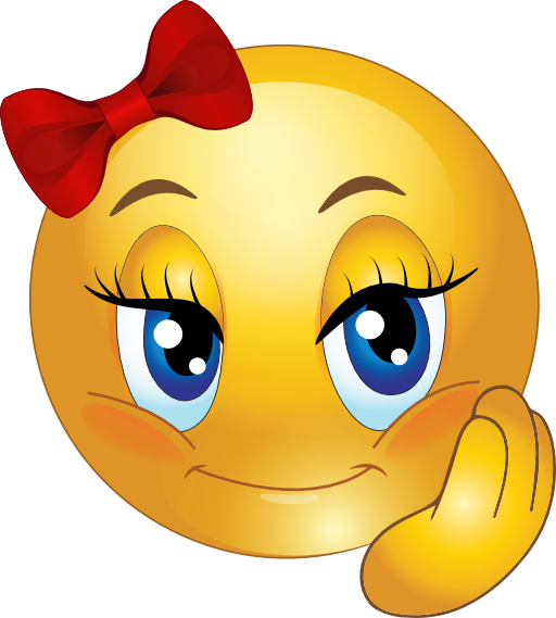 Cute Girl Smiley Faces | Cute Pretty Girl Smiley Emoticon Clipart ...