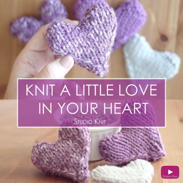 Knit A Heart Shape Studio Crochet And Knit Crochet