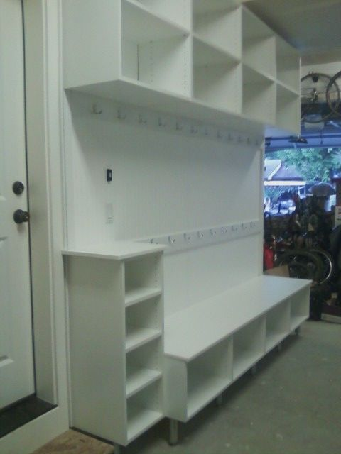 Lots Of Shoe Storage And Coat Hooks In The Garage High