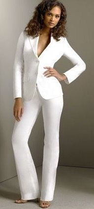 White Pants Womens Wedding Suitswedding