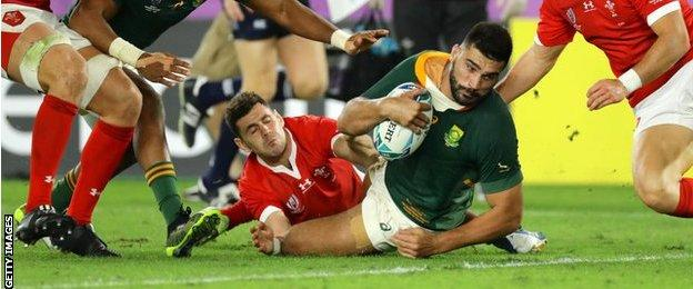 Rugby World Cup semifinal Wales 1619 South Africa (With