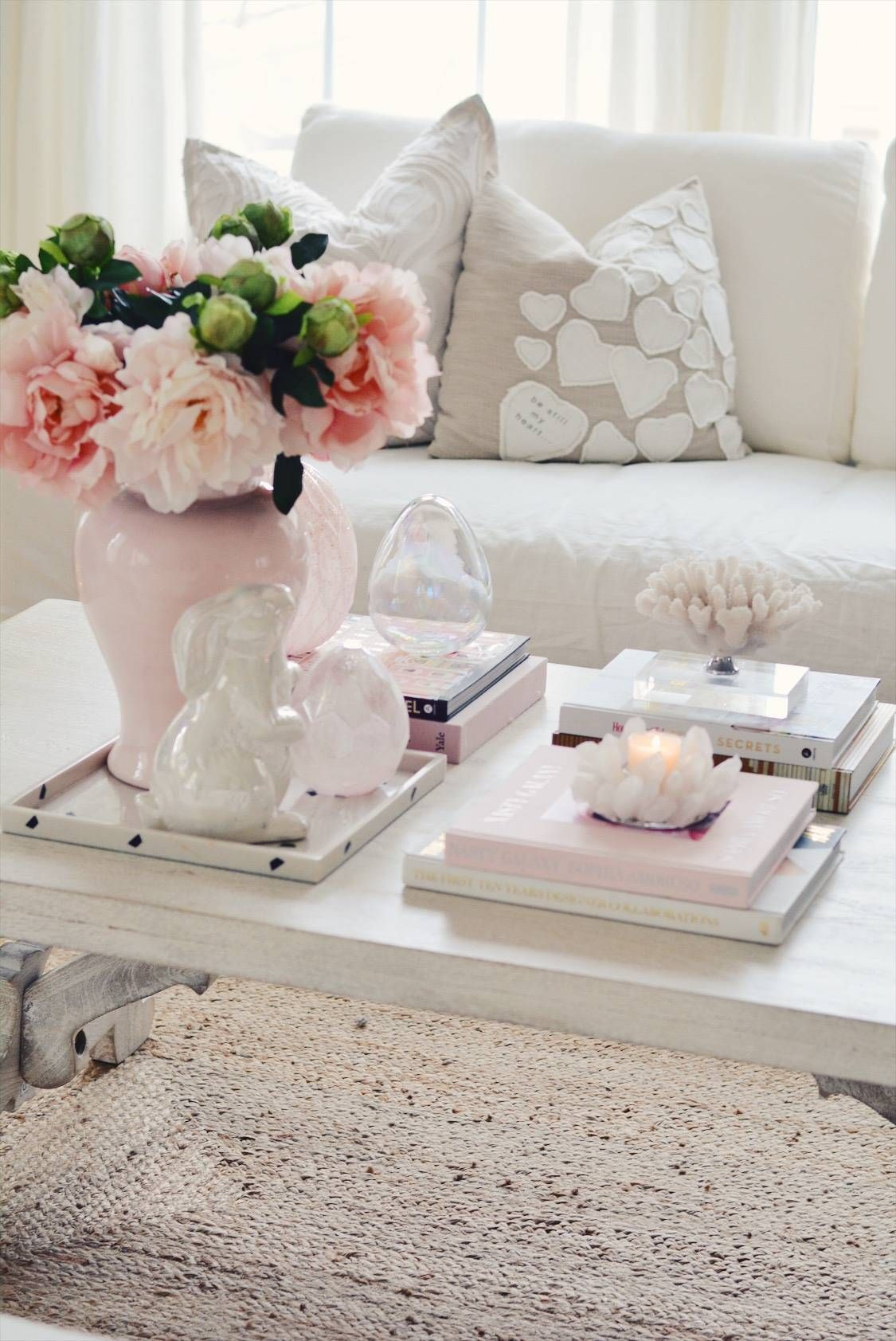 Elegant Spring Home Tour And Easter Decor 2019 The Pink Dream Easter Coffee Table Decor Table Decor Living Room Spring Living Room Decor