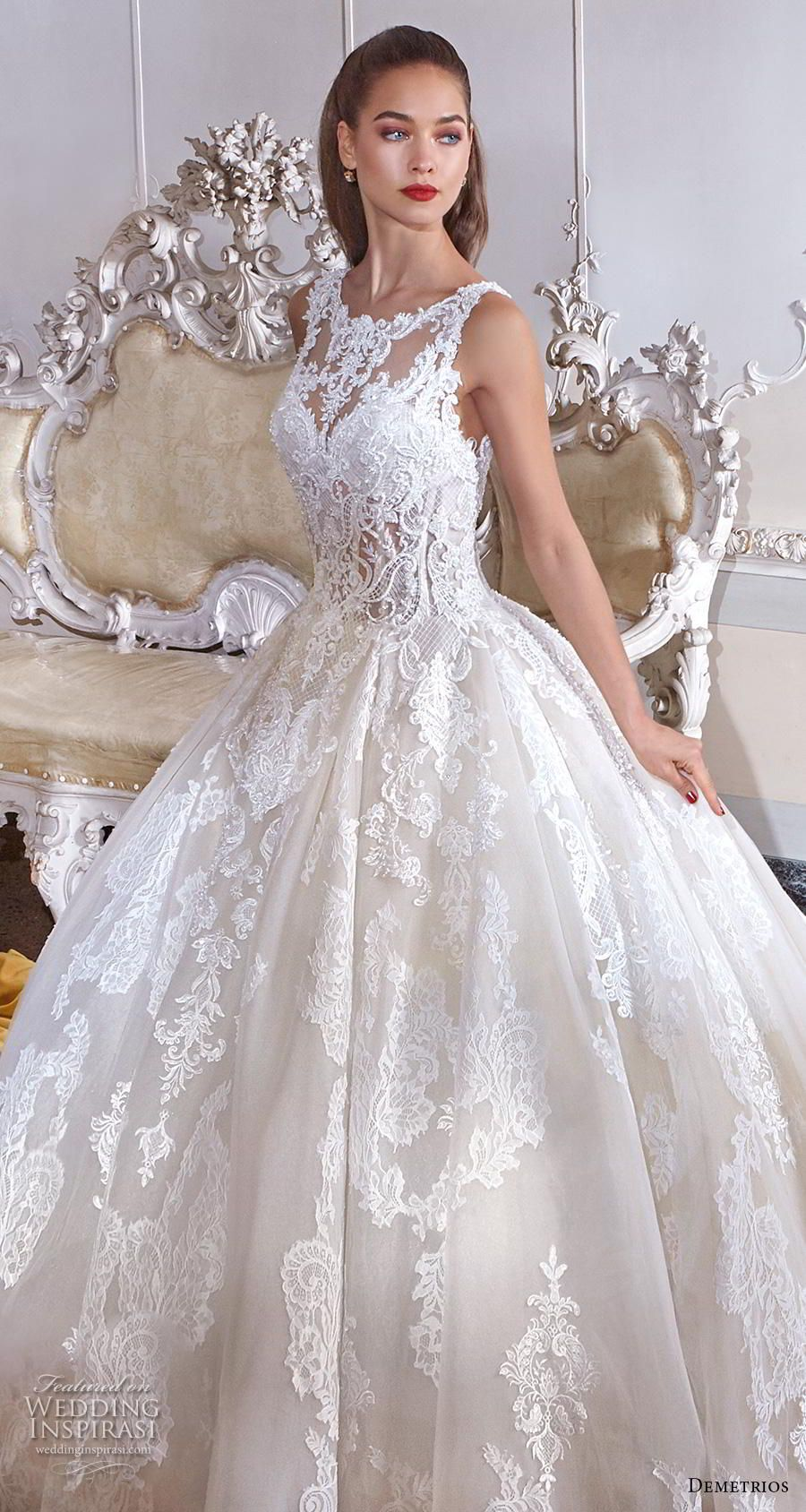 Platinum by Demetrios 2019 Wedding Dresses in 2020 Lace