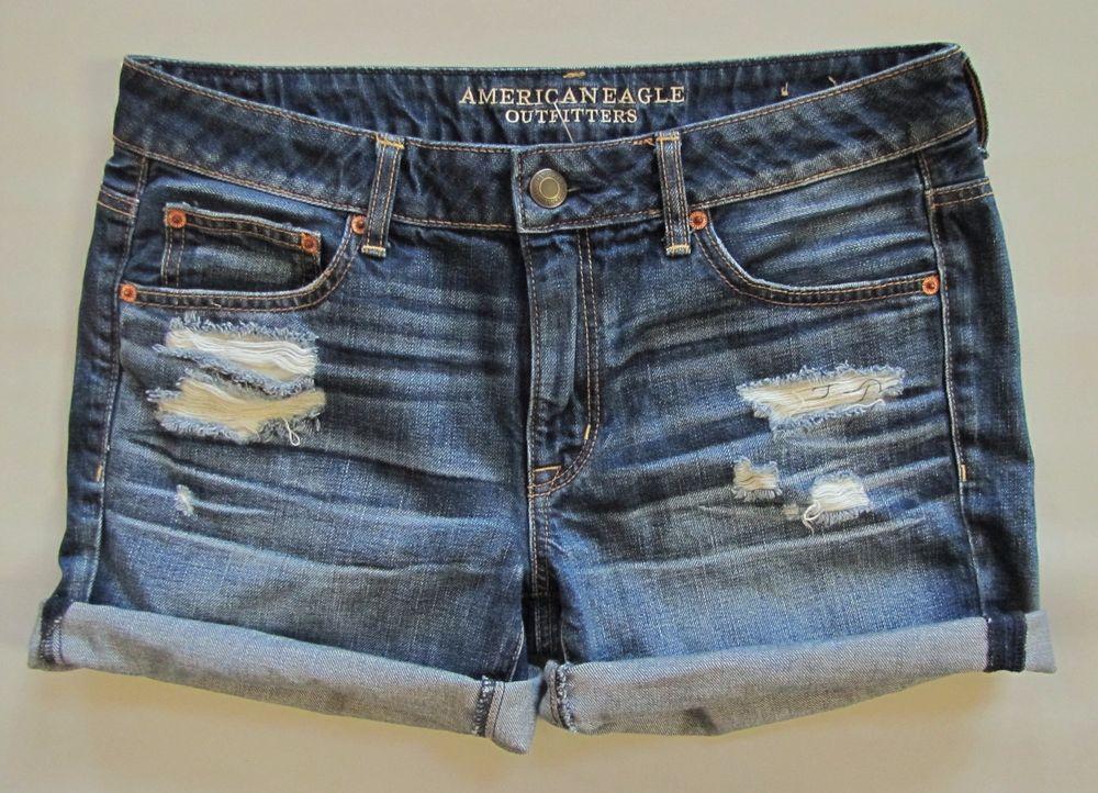 NWT American Eagle Dark Midi Denim Shorts Size 4,6 or 8
