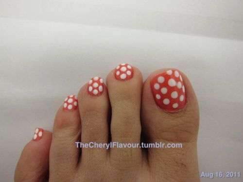 12 Nail Art Ideas For Your Toes Pinterest Polka Dot Toes Toe