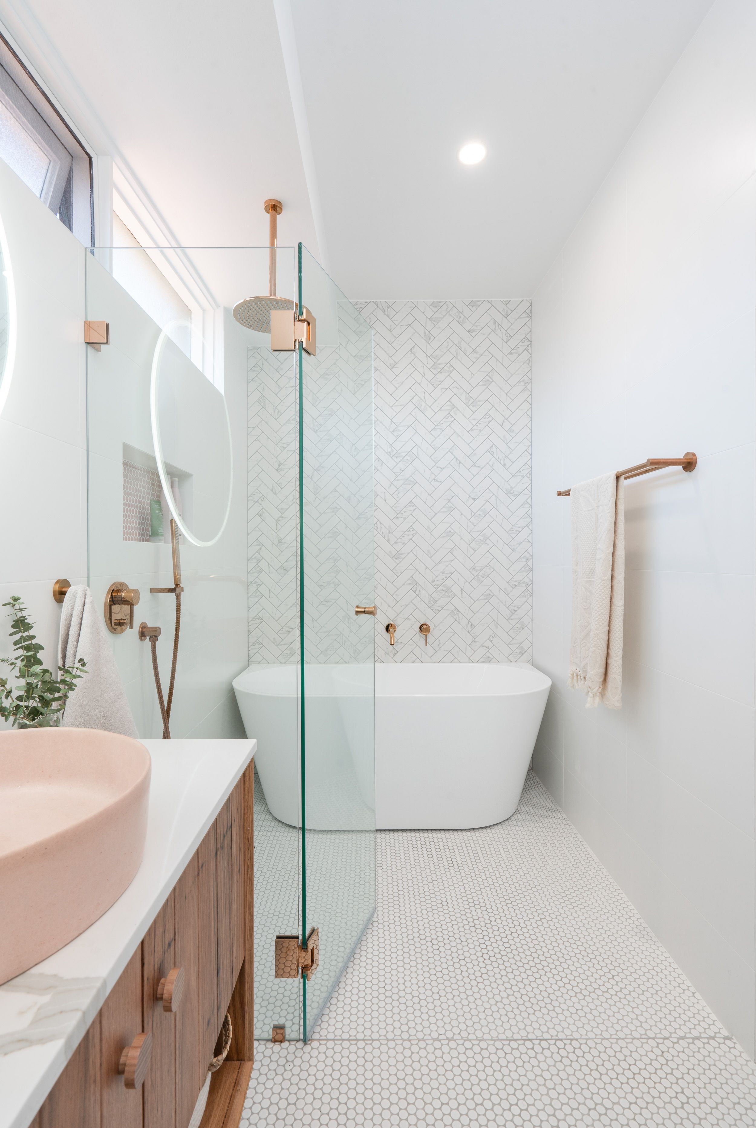 Blush Pink Bathroom Design