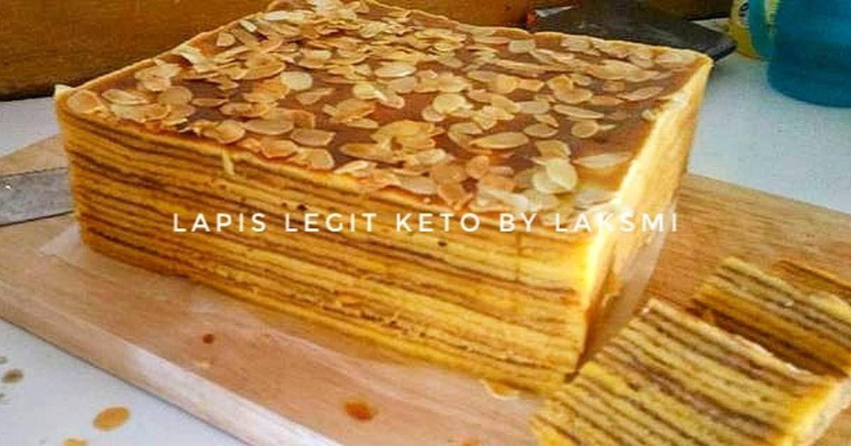Resep Lapis Legit Keto Lapis Almond Oleh Laksmi Resep Resep Makanan Dan Minuman Resep Keto
