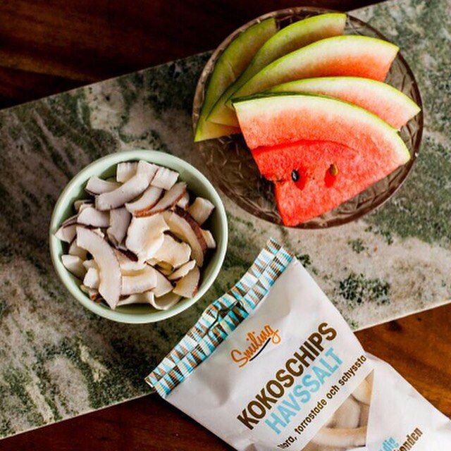 Kokos chips havssalt @ smiling Sverige