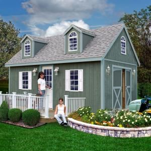 Convey A Fashionable Look To Your Outdoor Living Space By Using This Best  Barns Arlington Wood Storage Shed Kit With Floor Including Runners.