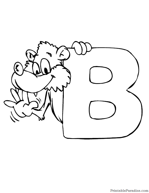 Printable Letter B Coloring Page  Sunday School