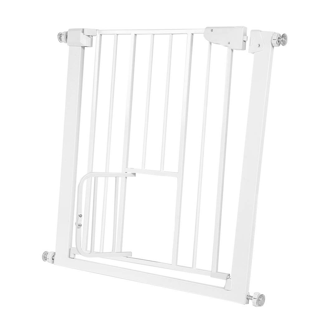 Adjustable Baby Gate Extra Tall Metal Pets Safety Gate To Protect Baby And Pets For Door Through Walk Fit For In 2020 Pet Safety Gate Baby Gates Adjustable Baby Gate