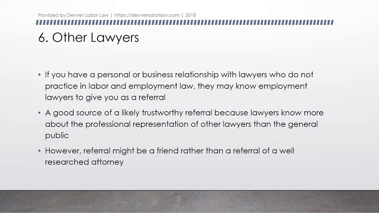 10 Ways to Find a Denver Employment Lawyer Employment