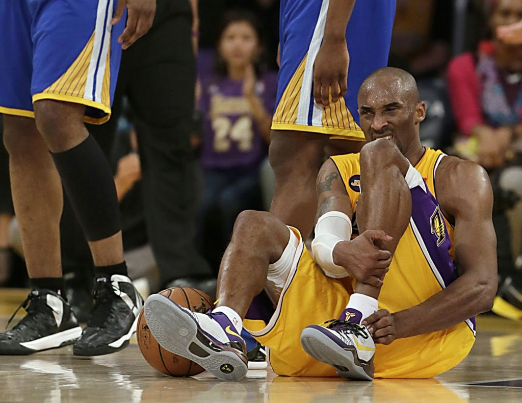 """When someone ruptures his Achilles tendon, he often says, """"I thought I got kicked in the heel, but when I turned around to see who did it there was no one near me!"""" Read more at: http://www.ace-pt.org/2013/04/18/kobe-bryants-achilles-tendon-injury/"""