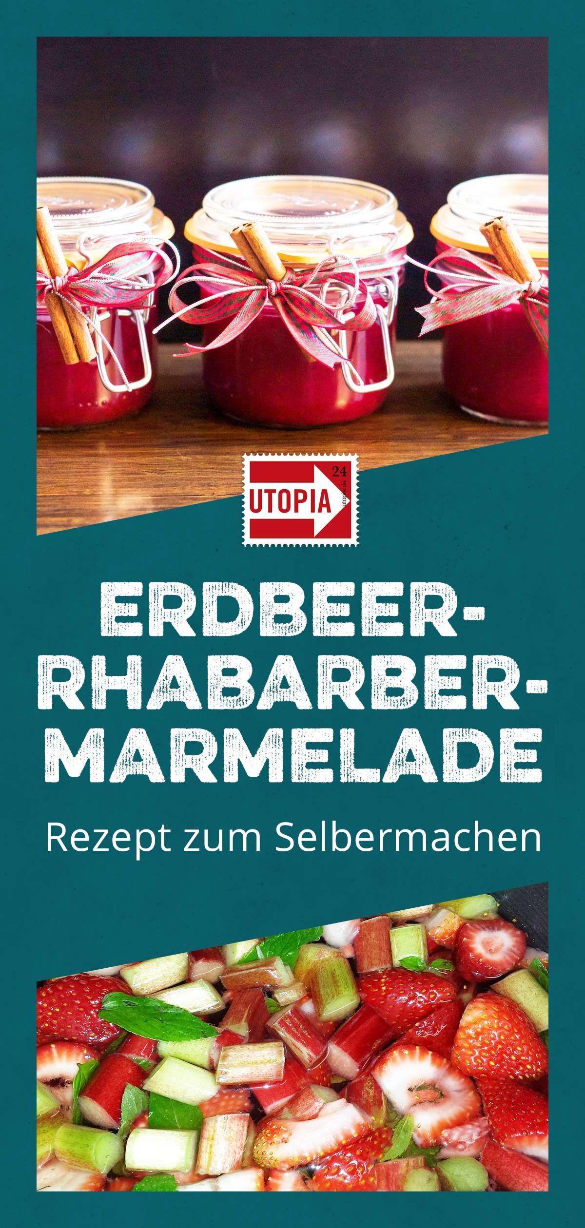 Erdbeer-Rhabarber-Marmelade: Leckeres Rezept zum Selbermachen #frühstückundbrunch